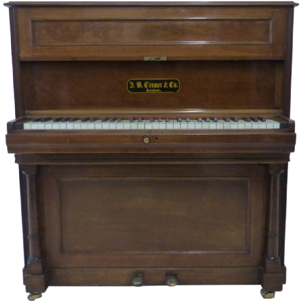 J B Cramer Composers Small Upright Piano Walnut c1892